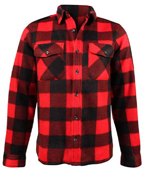 red and black checkered lumberjacket